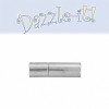 Plug-in Clasp - Tube Smooth 17mm Silver   (2pcs)
